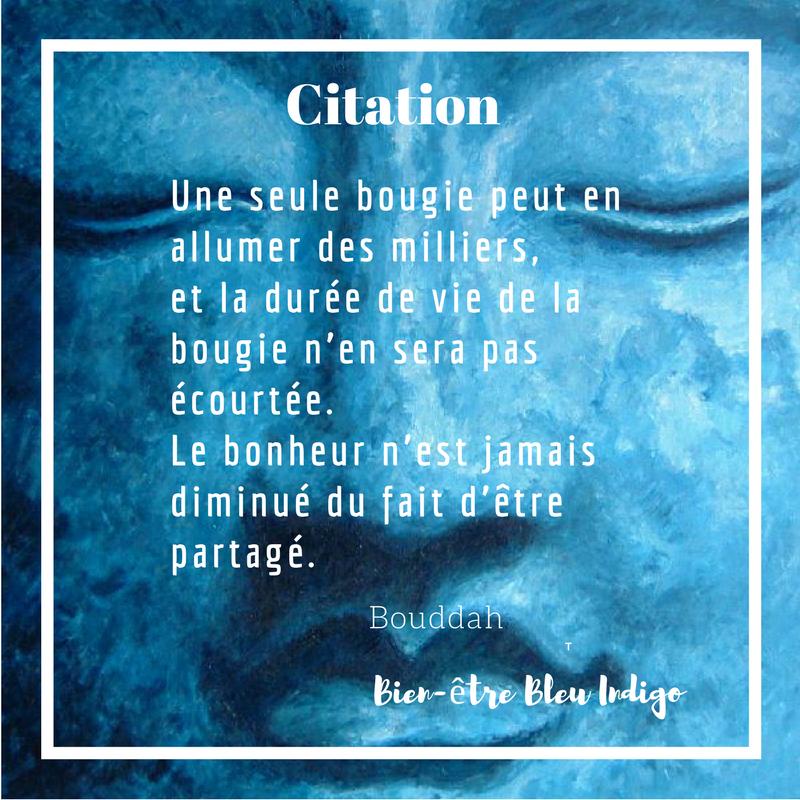 Citation Bonheur Bouddah Bien-être Sérénité Calme