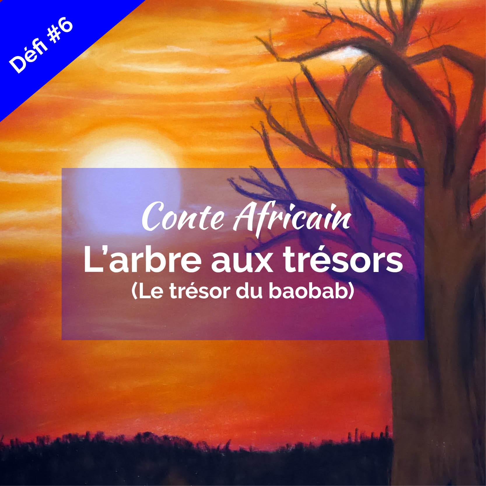 baobab couché de soleil conte africain