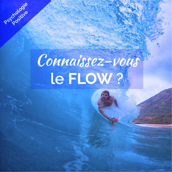 Un surfeur dans une immense vague Flow